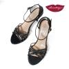 Sirume » Glitter y Raso Negro - 7,5cm