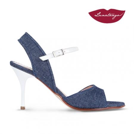 Mona » Jeans Charol Blanco - 7,5cm