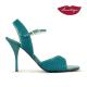 Mona » Gamuza Grabada Cuero Verde – 8,5cm