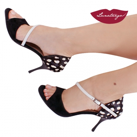 Diagonal » Cuero Dalma Gamuza Negro Cuero Perlado – 7,5cm