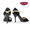 X » Gamuza Negra Cuero Oro - 7,5cm