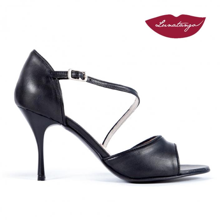 Diagonal » Cuero Negro - 7,5cm