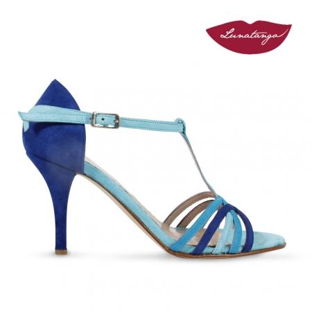 Sirume » Gamuza Azul, Turquesa y Celeste - 7,5cm