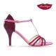 Sirume T » Gamuza Bordo, Rojo y Rosa - 7,5 cm