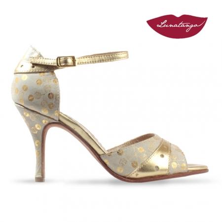 Medialunas » Cuero Oro y Cuero Fantasía Beige y Oro – 8,5cm
