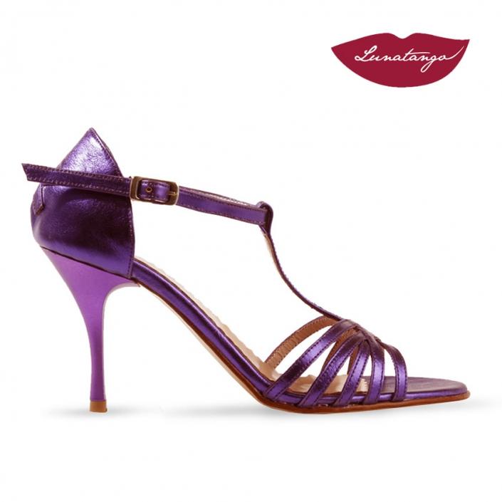 Sirume T » Cuero Metalizado Violeta - 7,5cm
