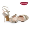 Mona » Gray Patent Leather Sole Chrome - 8,5cm