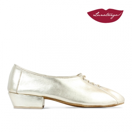Chatitas Practice » Leather Gold Sole Chrome - 3cm
