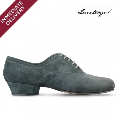 Gray Prusiano Suede - French Heel