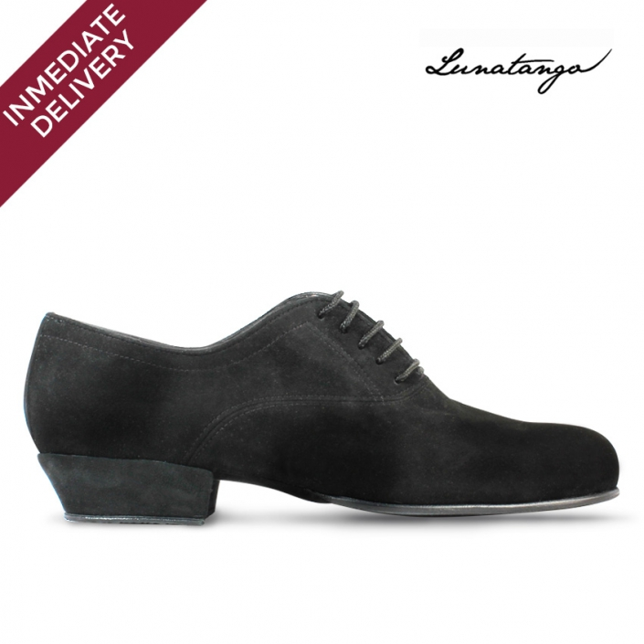 Prussian Black Suede Practice - French Heel
