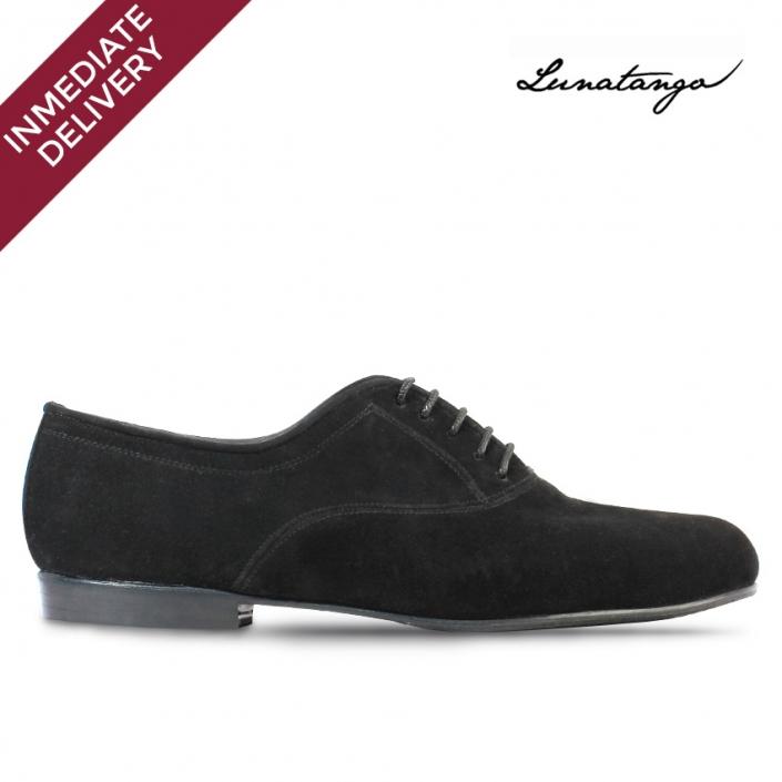 Prussian Black Suede - Pastel Heel