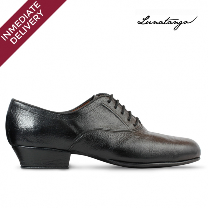 Prussian Black Leather Practice - French Heel