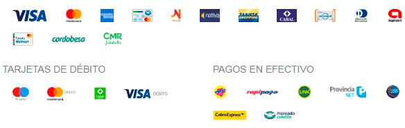 Mercado Pago - Métodos de Pago