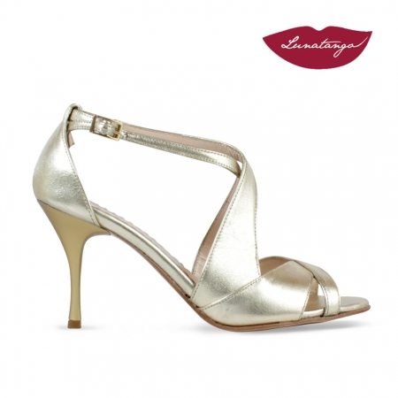 DobleD » Metallic Leather Gold – 7,5cm